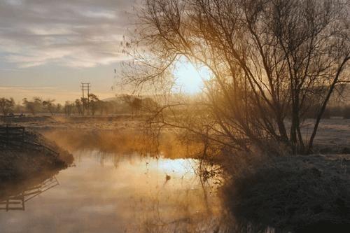 winters morning by nigelo