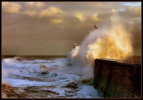 Tynemouth pier by Rayner