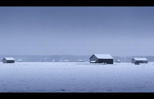 Barns in Winterland by solkku