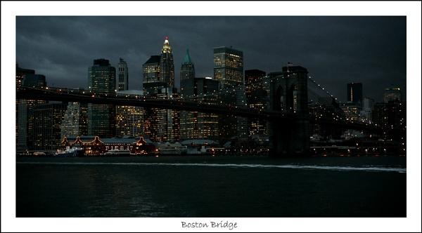 Boston Bridge by Night by timiano