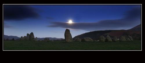 Moon over Castlerigg by Potto