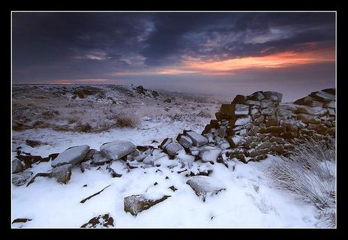 Curbar Snow by richardwheel