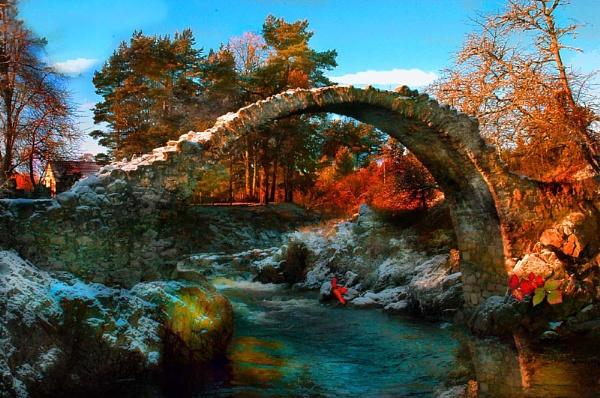 Carrabridge 17c bridge by Tosh4photos