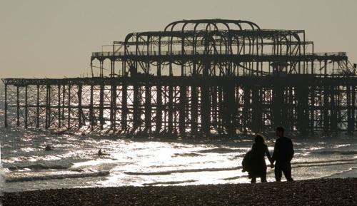 brighton west pier by curlyfilm