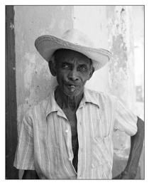 Cuban smoking cigar
