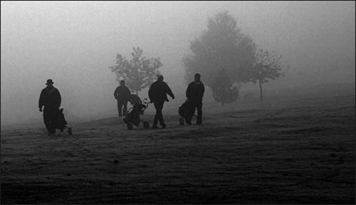 Golf In The Fog by photographerjoe
