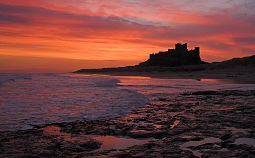 Dawn at Bamburgh Castle by db
