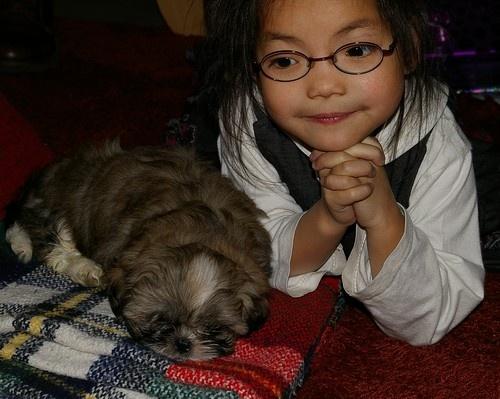 Yolin & puppy Sitah by loek