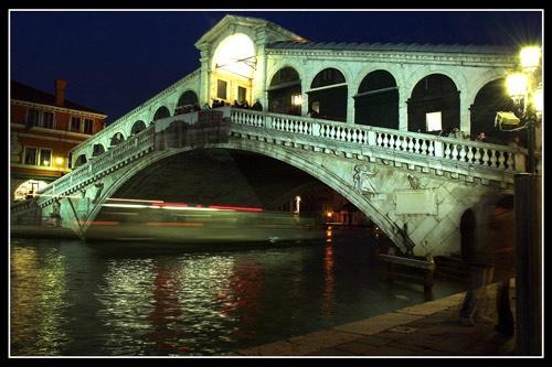 Rialto Bridge Light Trails by 1nten5e
