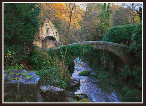 mill and bridge by Rayner