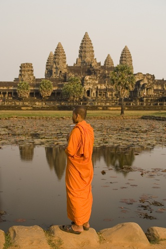 Monk at Ankor by the_lane
