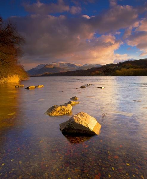 Evening light Llyn padarn by pierre
