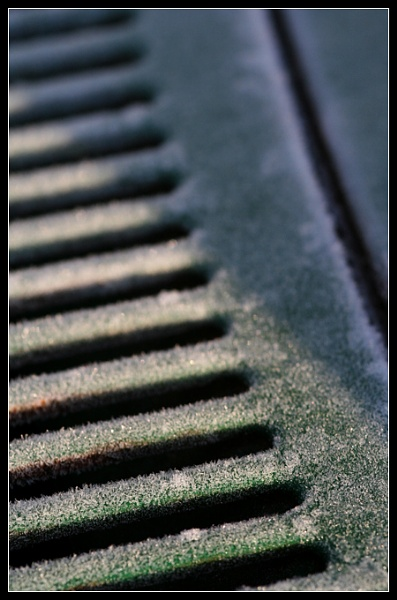 Iced Grill Abstract by Morpyre