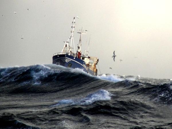 boat in storm by ireid7
