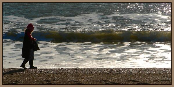 Em beachcombing by Dinda
