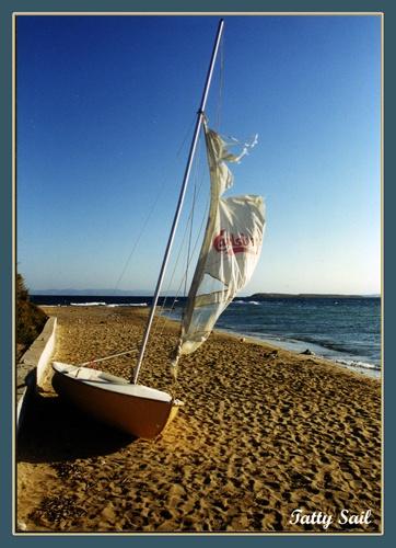 Tatty Sail by JCowlan