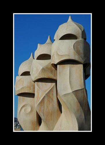 Barcelona Chimneys by mdilley
