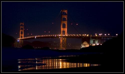 Golden Gate Night by liparig