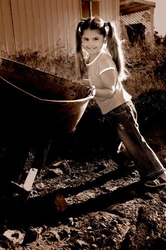 Wheelbarrow Girl by Jaye