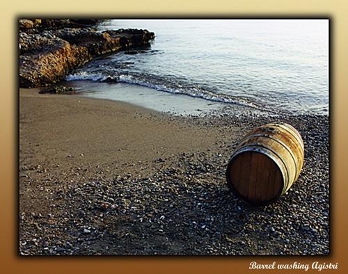 Barrel washing  Agistri by JCowlan