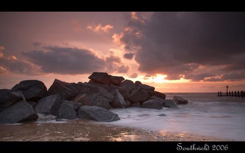 Southwold on the rocks by Chriscj