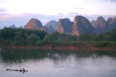 River Li at Sunset, Lu Gong, China by GDobson