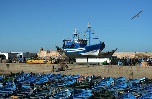 Fishing boats, Morocco by jane benge