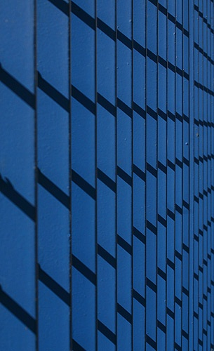 Shadows On Blue Railings by ericfaragh