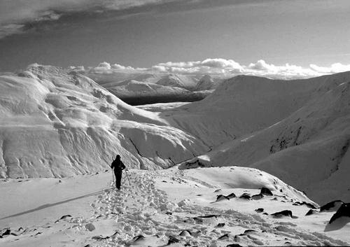 Binnean Beag snow plod by philhowe