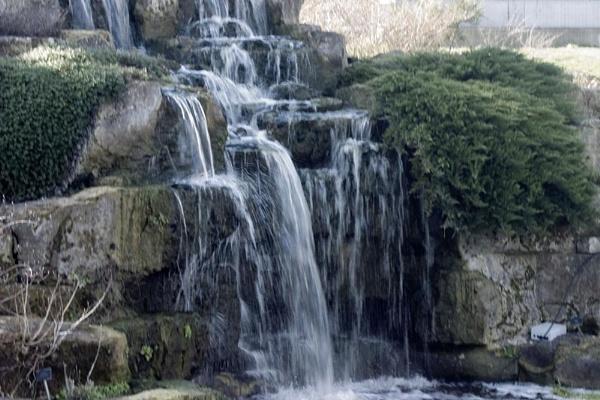 waterfall at Kew Gardens by chrisskipp