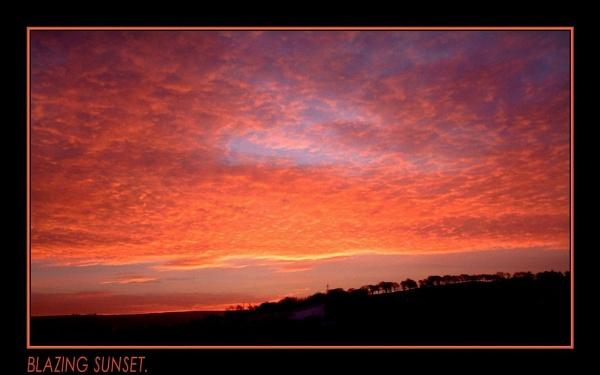 BLAZING SUNSET. by sunshot