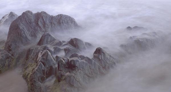 Misty Rocks by ticklemymonkey