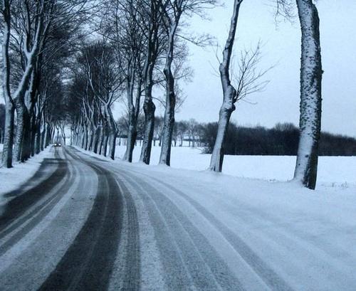 snowy road by bigbrum