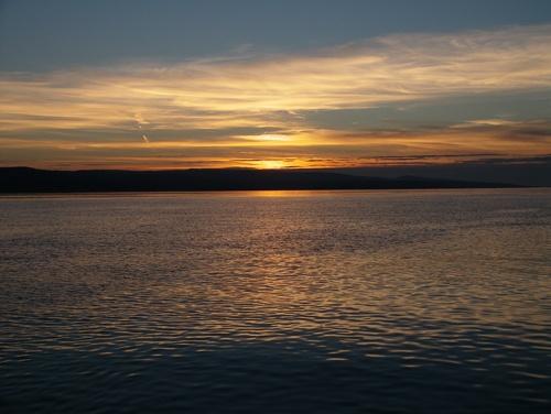Sunset over Brac Island by netti spaghetti