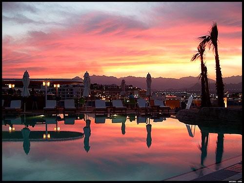 Egyptian Sunset by corkonian