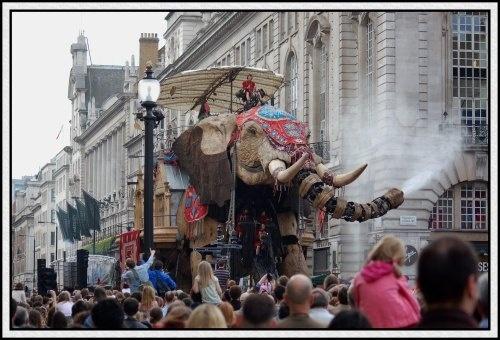 Elephant in London! by jaglin