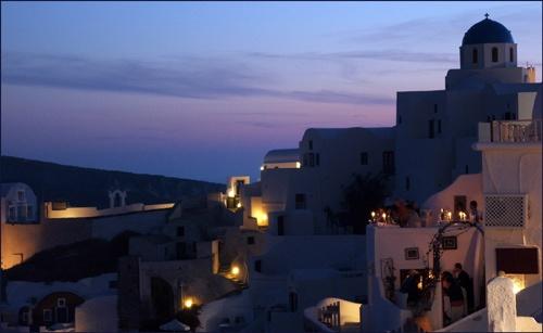 Santorini sea sunset by imjam