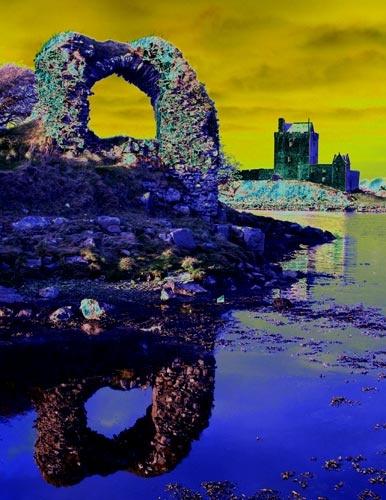 Dunguaire Castle - Colour Solarisation by griffin