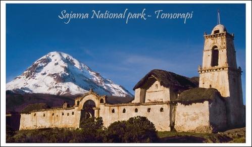 Nevada Sajama and Tomarapi Church by philipr