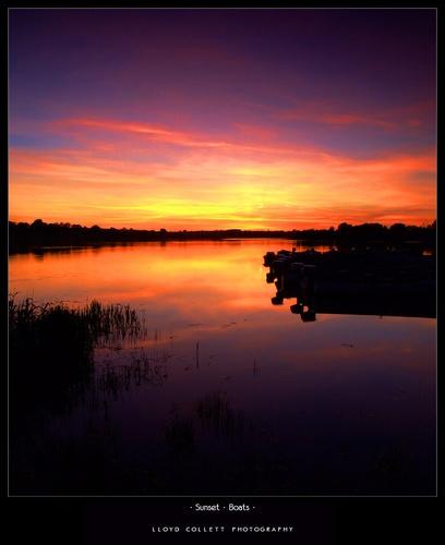 Sunset  Boats by lloydee