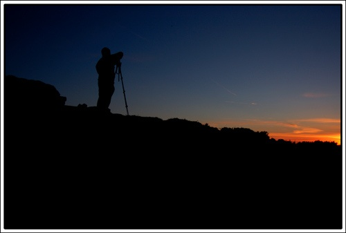 Sunset Silhouette by OPHITE_ZONE