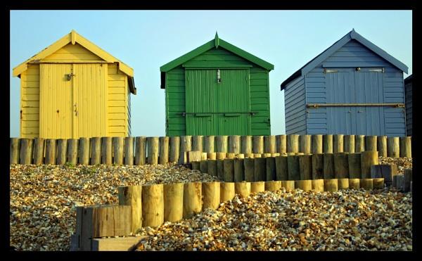 Beach Huts by DPWeeks