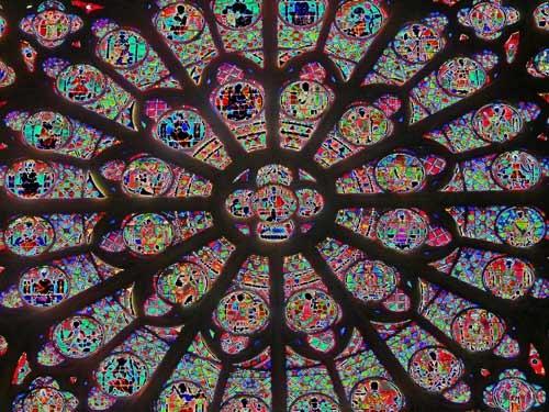 Notre Dame window by KingBee