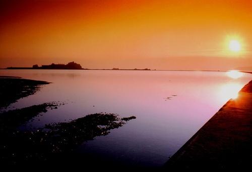sunset castle by happysnapper