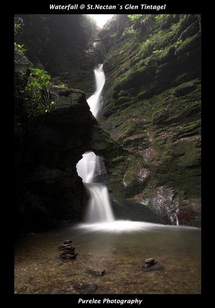 St.Nectan`s Glen Warterfall by stockys