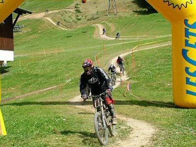 Downhill mountain bikers 002 by terra