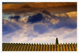 Evening sky, Tuscany
