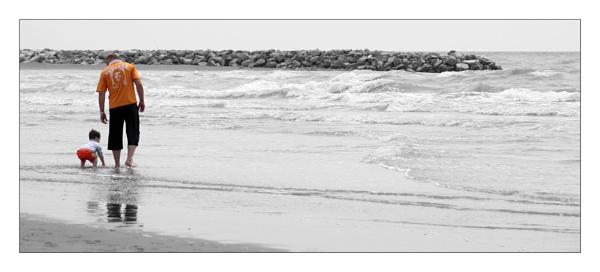 walk on the beach by firzhugh