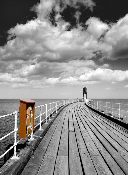 Whitby Pier by JohnBick