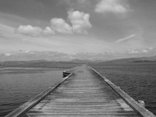 Port Pier (B&W) by Rab_H